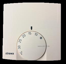 STRAWA Raumthermostat AP 230Vweiss, mit therm.Rückführung 55-005140