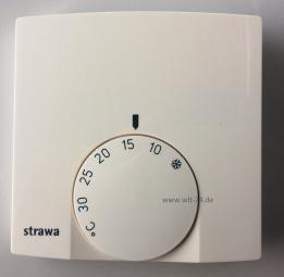 Raumthermostat STRAWA AP 230Vweiss, mit therm.Rückführung 55-005140